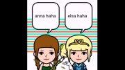 شکلک های السا و آنا و السا و جک ، سری دوم ساخته خودم