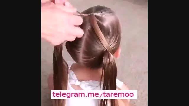 بافت مو زیبای دخترانه در تارمو
