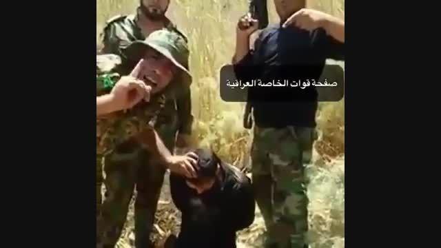 دستگیری یک داعشی سعودی و اعدام به سبک داعش-عراق-سوریه