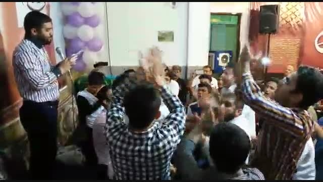 مراسم شب ولادت امام حسین علیه السلام.کربلایی علی شوقی
