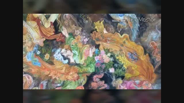 تزعینات خانه و ملک با نقاشی سلطنتی از طلا 09014952687