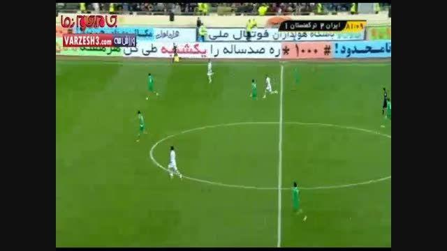 گل های دیدار ایران و ترکمنستان فوتبال فیلم گلچین صفاسا