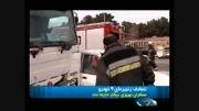 گزارشی از تصادف زنجیره ای ۹ خودرو در جاده مخصوص
