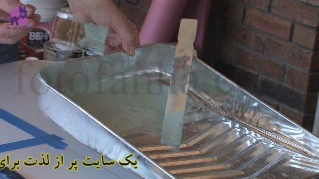 آموزش  نقاشی شیشه دکوراتیو