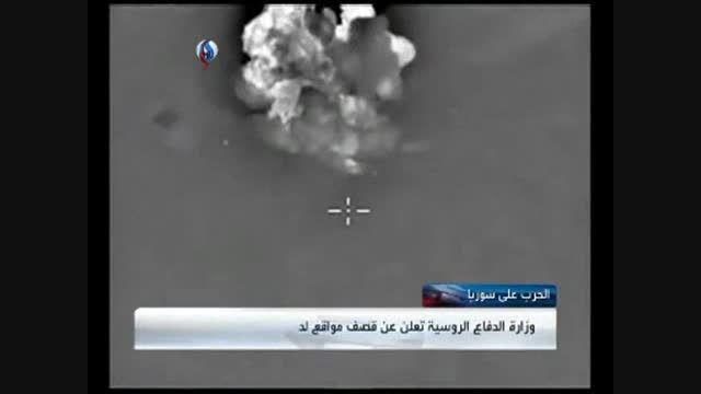حملات سنگین جنگنده های ارتش روسیه به داعش در تدمر