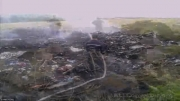 سقوط هواپیمای مسافربری مالزی در مرز روسیه و اوکراین/عکس