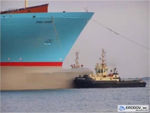 بزرگترین کشتی باری کانتینری دنیا