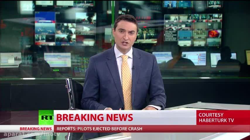 لحظه سقوط جنگنده ی روسی در مرز ترکیه