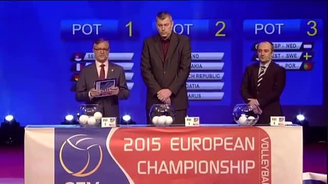 قرعه کشی مسابقات قهرمانی والیبال اروپا ۲۰۱۵