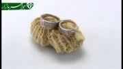 حلقه ازدواج نقره پرنگین - کد 3197