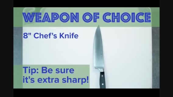 روشی برای خرد کردن سریع سبزیجات!