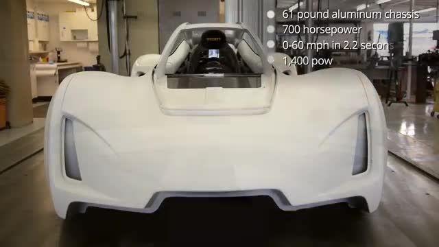 روند ساخت سوپر خودروی Blade با چاپگر سه بعدی + subtitle
