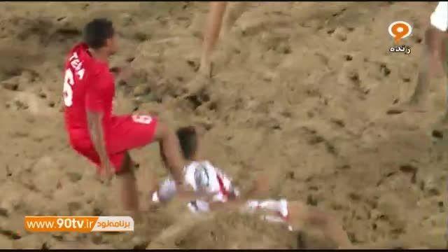 فوتبال ساحلی جام بین قاره ای: تاهیتی ۴-۲ ایران