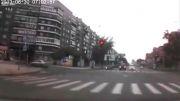 تعقیب خودرو در روسیه +تصادف+کشته شدن راننده