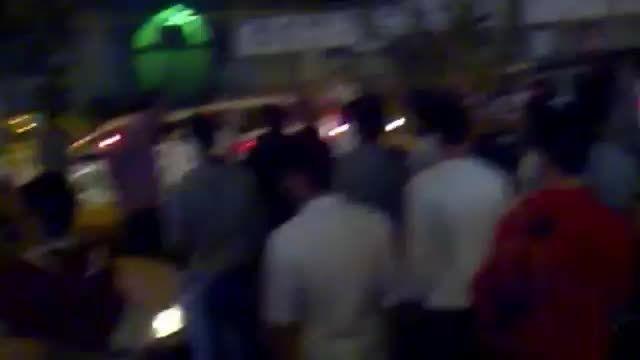 درگیری پلیس با راننده متخلف