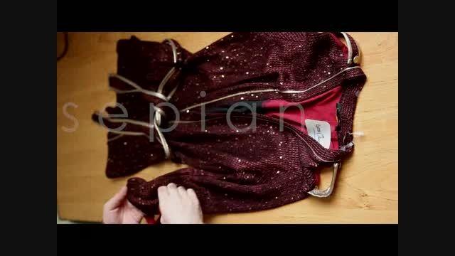 خرید اینترنتی بلوز بافت زنانه زرشکی
