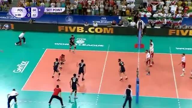 پیروزی ایرانیان والیبالیست در برابر آمریکا مرسی بچه ها
