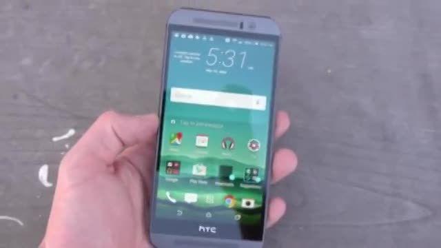 تست سقوط از ارتفاع گوشی HTC One M9