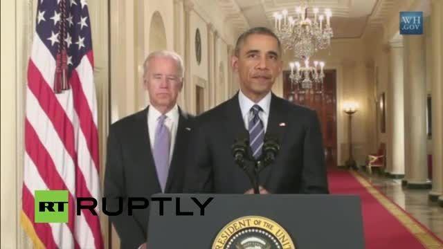 صحبت های اوباما بعد از بیانیه مشترک
