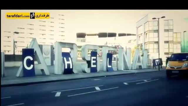 شیطنت هواداران چلسی مقابل ورزشگاه امارات