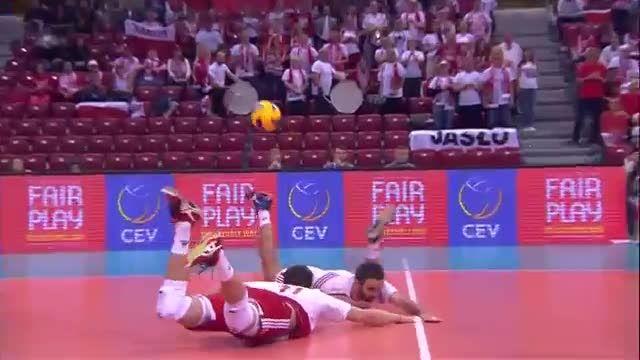 اسلوونی 3 - لهستان 2 | قهرمانی والیبال اروپا ۲۰۱۵