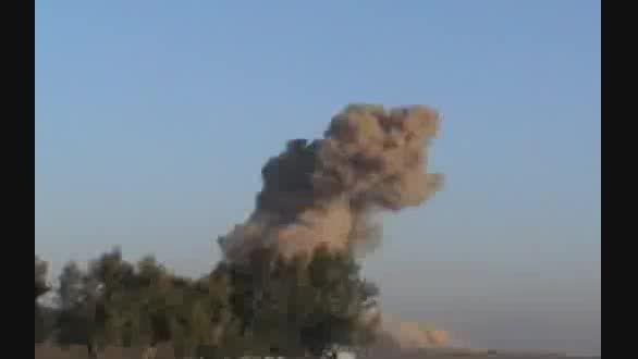 حمله جنگنده های آمریکایی به کاروان ارتش عراق در الرمادی