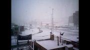 برف و بوران در شهر سهند (جنوب غرب تبریز)