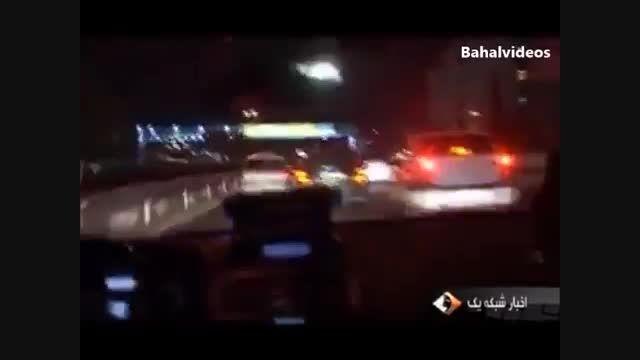 رانندگی  وحشتناک و لایی کشی  رانندگان متخلف با خودرو ها
