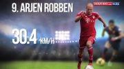 ۱۰ بازیکن پرسرعت حال فوتبال جهان