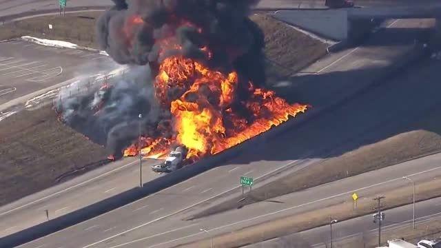 انفجار تانکر حامل گاز
