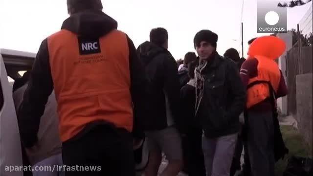 سرمای زمستان و شرایط سخت پناهجویان در اروپا