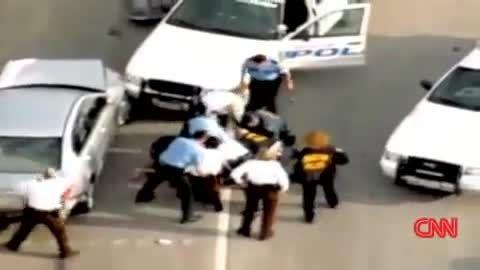 تعقیب و گریز پلیس در خیابان های لس آنجلس