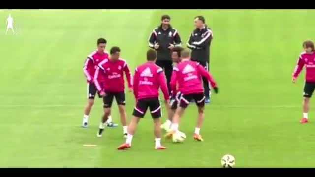 حرکت عجیب و جالب رونالدو در تمرینات رئال مادرید