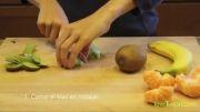 آموزش میوه آرایی  وتزئین میوه جات  به شکل جزیره!