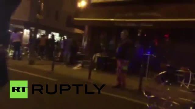 لحظات اولیه پس از حادثه تروریستی پاریس