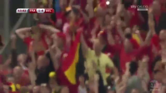 بلژیک 4 - 1 فرانسه (گل ادن هازارد) پنالتی
