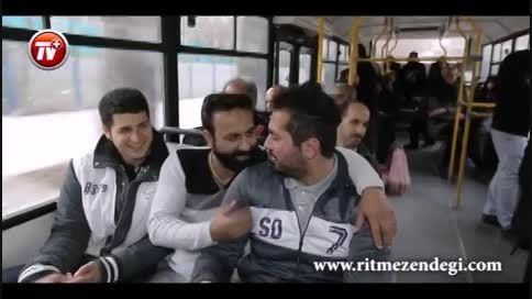 پایکوبی مردم در اتوبوس و تاکسی با دی جی حسین فسنقری