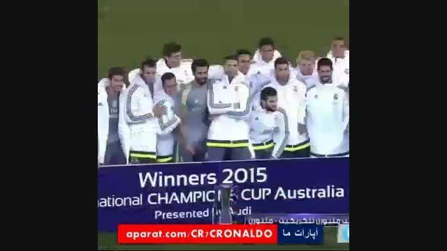 تصاویر اختصاصی جشن قهرمانی رئال مادرید در گینس کاپ 2015