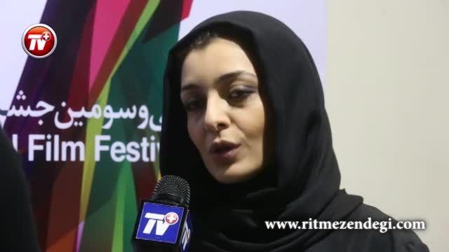 گفتگو با سعید آقاخانی و ساره بیات در حاشیه جشنواره فجر
