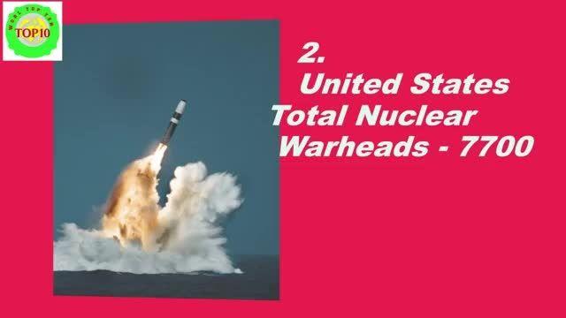 10 کشور با بیشترین سلاح هسته ای