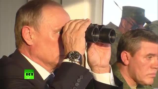 مانور نظامی روسیه با حضور پوتین