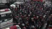 درگیری مخالفان دولت با پلیس ضد شورش