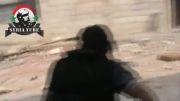 حمله نیروهای ارتش آزاد ( تروریستهای سوری ) به ایست بازرسی ارتش سوریه