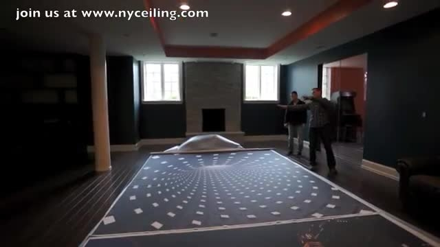 3D اثر فناوری های جدید در سقف کشش با RGB LED ...