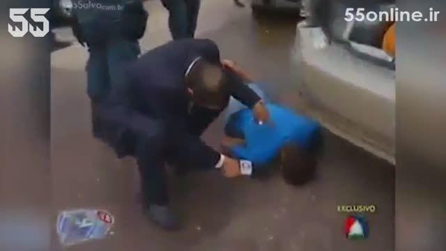 مصاحبه گزارشگر تلویزیون با یک جنازه