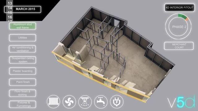 زمان بندی و اجرای اجزا داخل ساختمان به روش BIM