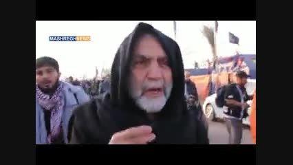 اشک های سردار همدانی در راهپیمایی اربعین