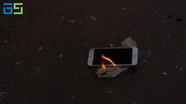 سوختن iPhone 6 Plus در زیر آتش کوکتل مولوتف!!!