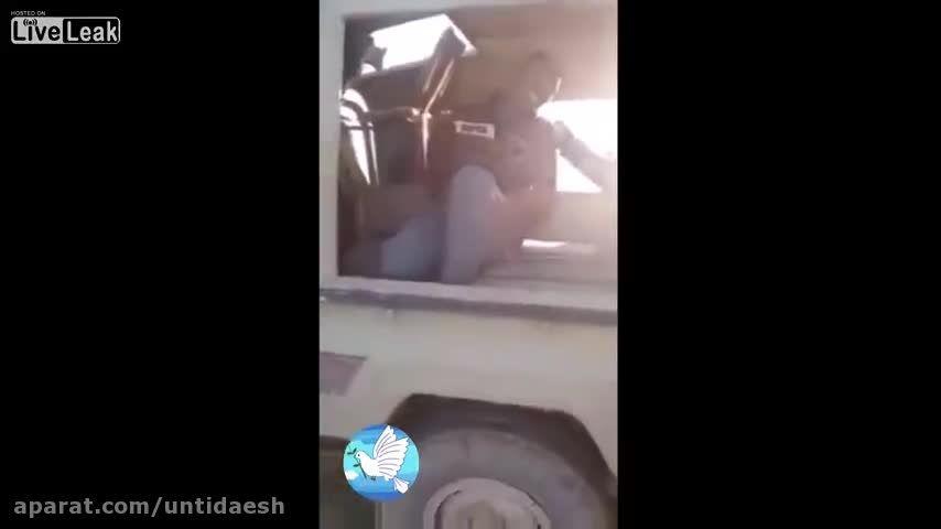 ناله های وحشت داعشی اسیر شده
