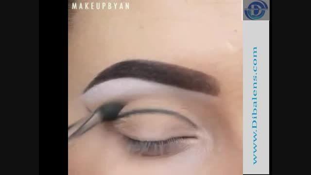 نمونه آرایش چشمان سبز رنگ